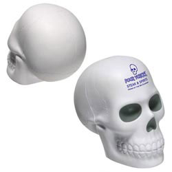 Custom imprinted Skull Stress Reliever