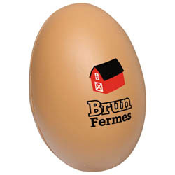 Custom imprinted Egg Stress Reliever
