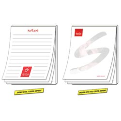 Custom imprinted Scratch Pad - 50 Sheets - 4.25x5.5