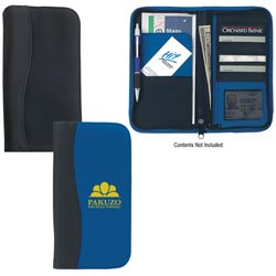 Custom imprinted Microfiber Travel Wallet With Embossed PVC Trim
