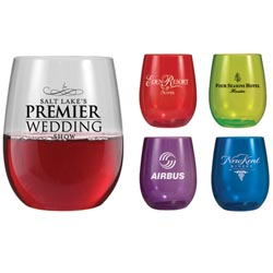 Custom imprinted 12 Ounce Vinello Stemless Wine Glass