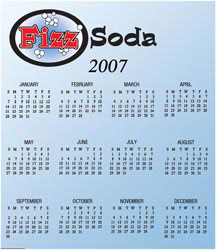 Custom imprinted Bic 30 mil Calendar Magnet - Small