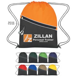 Custom imprinted Non-Woven Two-Tone Sports Pack
