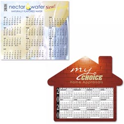 Custom imprinted Bic 30 mil Calendar Magnet - Medium
