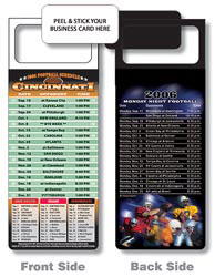 Custom imprinted Magnetic NFL Football Schedule Cincinnati Bengals