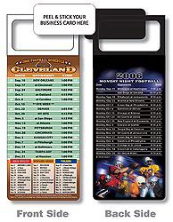 Custom imprinted Magnetic NFL Football Schedule - Cleveland Browns