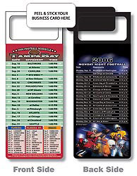 Custom imprinted Magnetic NFL Football Schedule - Buccaneers