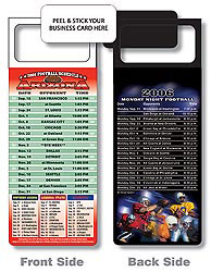 Custom imprinted Magnetic NFL Football Schedule - Arizona Cardinals