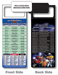 Custom imprinted Magnetic NFL Football Schedule Indianapolis Colts