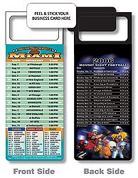 Custom imprinted Magnetic NFL Football Schedule - Miami Dolphins