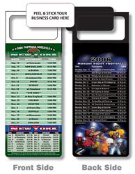 Custom imprinted Magnetic NFL Football Schedule NewYork Jets/Giants