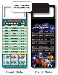 Custom imprinted Magnetic NFL Football Schedule Jacksonville Jaguar