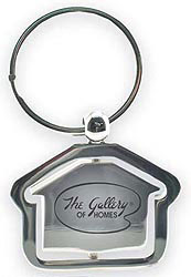 Custom imprinted House Metal Key Tag