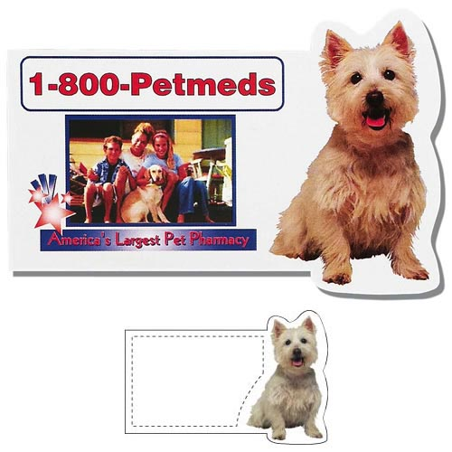 Dog business card shaped magnet colourmoves